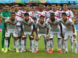 Costa Rica pose for a team photo prior to the 2014 FIFA World Cup Brazil Round of 16 match between Costa Rica and Greece at Arena Pernambuco on June 29, 2014