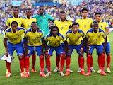 Ecuador pose for a team photo prior to the 2014 FIFA World Cup Brazil Group E match between Ecuador and France at Maracana on June 25, 2014