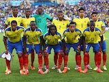 Ecuador pose for a team photo prior to the 2014 FIFA World Cup Brazil Group E match between Ecuador and France at Maracana on June 25, 2014