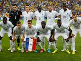 France pose for a tema photo prior to the 2014 FIFA World Cup Brazil Group E match between Ecuador and France at Maracana on June 25, 2014