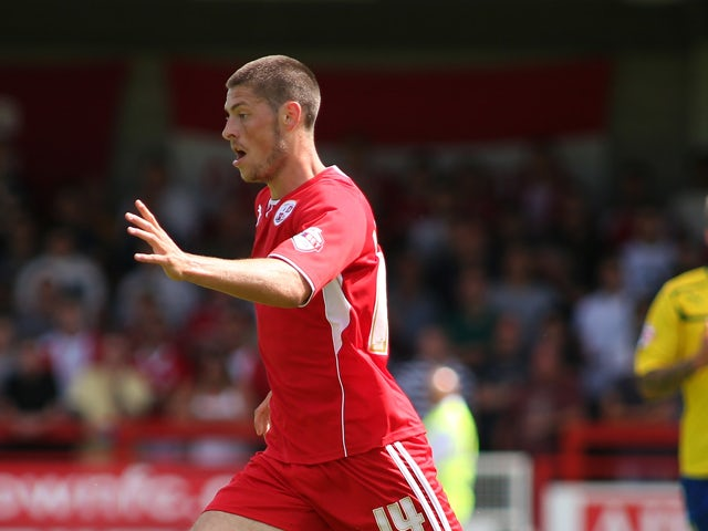 Jamie Proctor of Crawley Town in action during the Sky Bet League One match between Crawley Town FC and Coventry at Broadfield Stadium on August 03, 2013