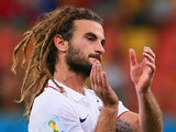 Kyle Beckerman of the United States acknowledges the fans after a 2-2 draw with Portugal during the 2014 FIFA World Cup Brazil Group G match between the United States and Portugal at Arena Amazonia on June 22, 2014