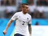 Mathieu Debuchy of France controls the ball during the 2014 FIFA World Cup Brazil Group E match between Switzerland and France at Arena Fonte Nova on June 20, 2014