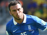 Greece's defender Vasilis Torosidis in action during a Group C football match between Colombia and Greece at the Mineirao Arena in Belo Horizonte during the 2014 FIFA World Cup on June 14, 2014