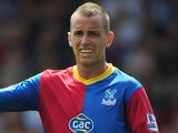 Aaron Wilbraham of Crystal Palace gestures during the Barclays Premier League match between Crystal Palace and Tottenham Hotspur at Selhurst Park on Augsut 18, 2013