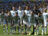 Argentina's team lineup for the Quarter Final with Belgium on July 5, 2014