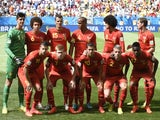 Belgium's team line-up for the game with Argentina on July 5, 2014