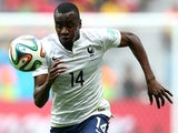 Blaise Matuidi of France controls the ball during the 2014 FIFA World Cup Brazil Round of 16 match between France and Nigeria at Estadio Nacional on June 30, 2014