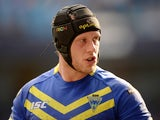 Chris Hill of Warrington Wolves in action during the Super League match between Warrington Wolves and St Helens at Etihad Stadium on May 18, 2014