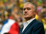 France's coach Didier Deschamps is pictured prior to a Round of 16 football match between France and Nigeria at Mane Garrincha National Stadium in Brasilia during the 2014 FIFA World Cup on June 30, 2014