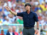 Head coach Joachim Loew of Germany gestures during the 2014 FIFA World Cup Brazil Quarter Final match between France and Germany at Maracana on July 4, 2014