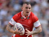 Jonny Walker of Hull Kingston Rovers in action during the Super League match between Hull Kington Rovers and Hull FC at Etihad Stadium on May 17, 2014
