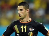 Kevin Mirallas of Belgium controls the ball during the 2014 FIFA World Cup Brazil Group H match between South Korea and Belgium at Arena de Sao Paulo on June 26, 2014