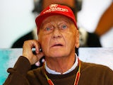 Niki Lauda watches the action during final practice ahead of the Canadian Formula One Grand Prix at Circuit Gilles Villeneuve on June 7, 2014