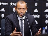 Valencia's new Portuguese coach Nuno Espirito Santo speaks during a press conference at the Ciudad Deportiva de Paterna training ground near Valencia on July 4, 2014