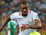 Burkina Faso's midfielder Prejuce Nakoulma runs with the ball during the 2013 African Cup of Nations final football match between Burkina Faso and Nigeria on February 10, 2013