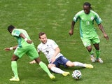France midfielder Yohan Cabaye makes a tackle during the World Cup last-16 tie against Nigeria in Brasilia on June 30, 2014