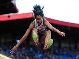 Morgan Lake competes in the Women's Long Jump Final during day three of the Sainsbury's British Championships at Birmingham Alexander Stadium on June 29, 2014