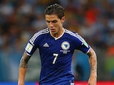 Bosnia-Herzegovina's Muhamed Besic in action on June 15, 2014.