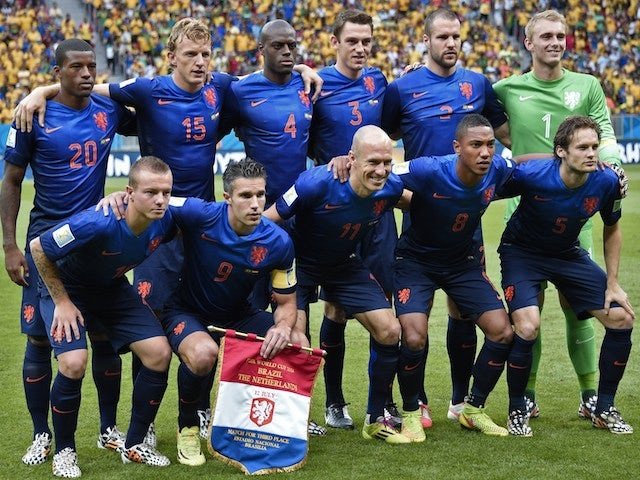 Netherlands lineup for the 3rd place playoff against Brazil on July 12, 2014
