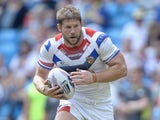 Nick Scruton of Wakefield Trinity Wildcats in action during the Super League match between Wakefield Wildcats and Castleford Tigers at Etihad Stadium on May 18, 2014