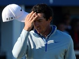 Rory McIlroy of Northern Ireland reacts on the 18th green during the Aberdeen Asset Management Scottish Open second round at Royal Aberdeen Golf Club on July 11, 2014