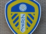 The Leeds United club badge outside Elland Road Stadium on January 9, 2013