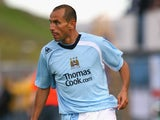 Martin Petrov of Manchester City during the UEFA Cup 1st Round 1st Leg Qualifying match between EB/Streymur and Manchester City at the Torsvollur Stadium on July 17, 2008
