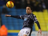 Shane Lowry of Millwall in action during the Sky Bet Championship match between Millwall and Leicester City at The Den on January 01, 2014