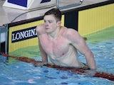 Adam Peaty of England after the men's 50m breaststroke semi-final on July 27, 2014