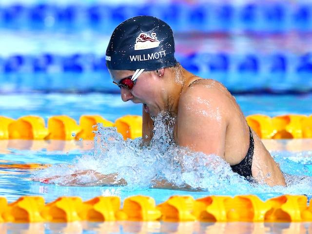 Team England's Aimee Wilmott competes in the 400m individual medley heat on July 24, 2014