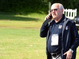 Carlo Tavecchio attends an Italy training session on June 12, 2014