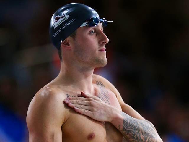 England's Chris Walker-Hebborn ahead of the men's 50m backstroke semi-final on July 26, 2014