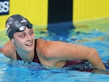 England's Francesca Halsall after the women's 50m freestyle heat on July 25, 2014