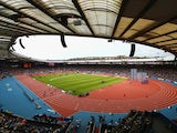 A general view during heat 8 in the Men's 100 metres heats at Hampden Park Stadium during day four of the Glasgow 2014 Commonwealth Games on July 27, 2014
