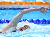 Hannah Miley during the 800m freestyle heat on July 27, 2014