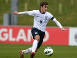 Harry Winks of England during the England v Belgium - U18 International Friendly match at St Georges Park on February 18, 2014