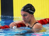 Jazz Carlin of Wales looks on after the Women's 200m Freestyle Heat 4 at Tollcross International Swimming Centre during day one of the Glasgow 2014 Commonwealth Games on July 24, 2014