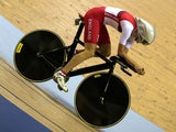Joanna Rowsell competes during the women's 3000m individual pursuit qualifying on July 25, 2014