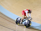 Matthew Crampton of England competes in the Men's Sprint Qualifying at Sir Chris Hoy Velodrome during day one of the Glasgow 2014 Commonwealth Games on July 24, 2014