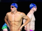 Scotland's Michael Jamieson and Ross Murdoch prior to their men's 100m breaststroke heat on July 25, 2014