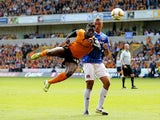 Nouha Dicko of Wolves in action during the Sky Bet League One match between Wolverhampton Wanderers and Carlisle United at Molineux on May 3, 2014