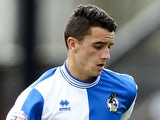 Oliver Norburn of Bristol Rovers in action during the Sky Bet League Two match between Bristol Rovers and Scunthorpe United at The Memorial Ground on August 10, 2013