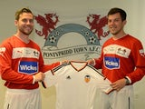 Pontypridd Town AFC manager Dominic Broad and captain Nyran Bird, pictured in July 2014
