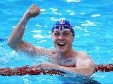 Ross Murdoch of Scotland wins the men's 200m breaststroke final on July 24, 2014