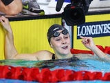 Siobhan O'Connor celebrates winning gold in the 200m individual medley with a Games record on July 27, 2014