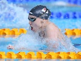 Sophie Taylor on her way to victory in the fifth 100m breaststroke heat on July 27, 2014