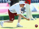 Stuart Airey helps England to victory over Pakistan in the men's lawn bowls on July 25, 2014