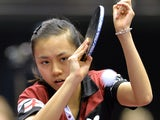 England's Tin-Tin Ho returns a shot against Egle Stuckyte of Lithuania during a match of the second division group F women's team groups at the 2014 World Team Table Tennis Championships in Tokyo on April 30, 2014