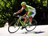 Alessandro De Marchi of Italy and Cannondale in action during the seventeenth stage of the 2014 Tour de France, a 125km stage between Saint-Gaudens and Saint-Lary-Soulan Pla d'Adet, on July 23, 2014